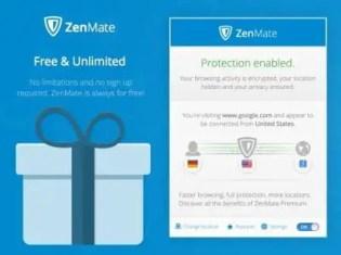 Zenmate In Access in mozilla firefox