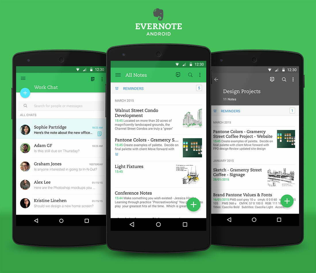 evernote note taking app