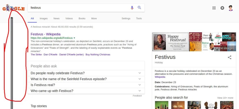 google easter egg festivus