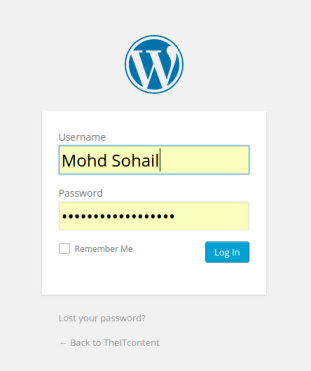 Login into WordPress blog or website