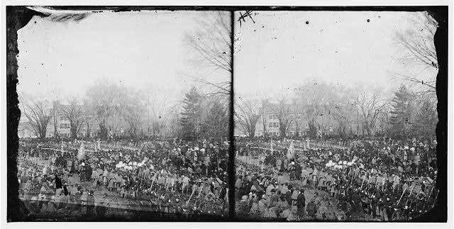 Washington, District of Columbia. Crowd at President Abraham Lincoln's second inauguration http://www.loc.gov/pictures/item/cwp2003006092/PP/