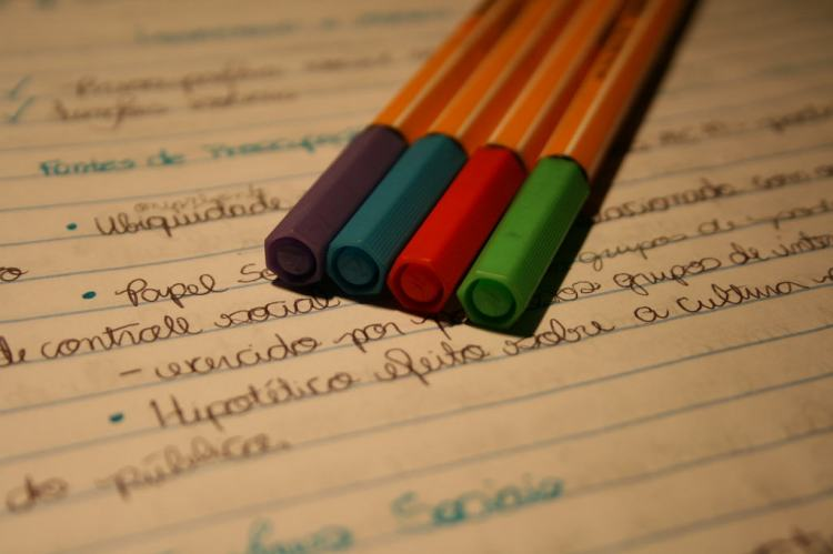With your pen and notebook, you blow me away...