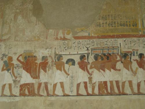 Hieroglyphics inside the tombs of the workers who built the Valley of the Kings.