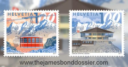 Piz Gloria 50th anniversary stamps