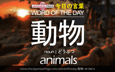 Beginner Word of the Day – 動物 [animals]