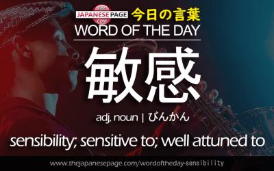 Advanced Word of the Day – 敏感 [sensibility]