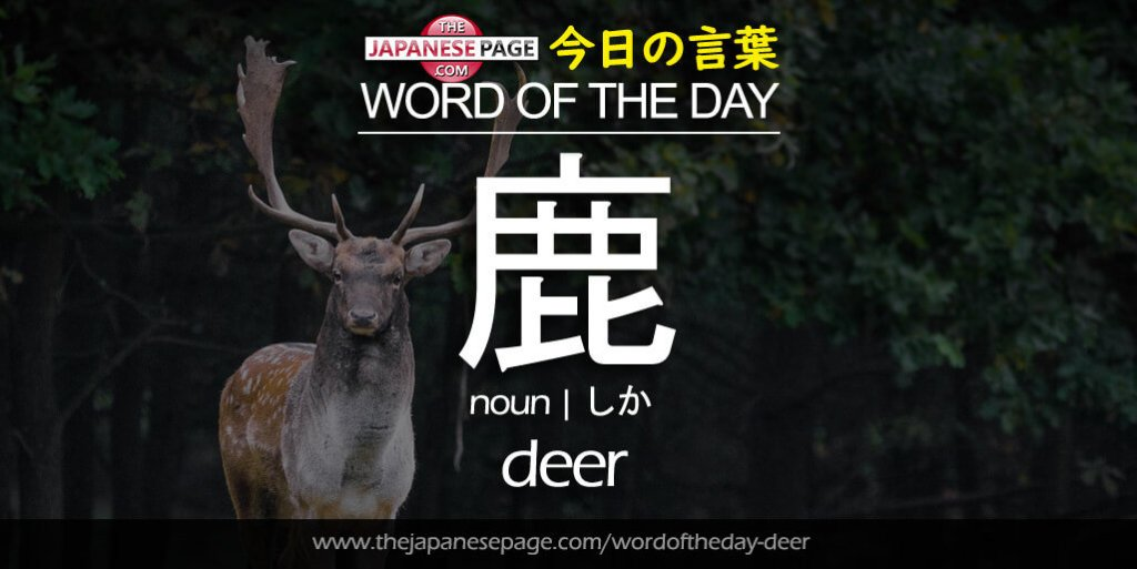 The Japanese Page Word of The Day - Deer