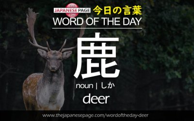 Beginner Word of the Day – 鹿 [deer]