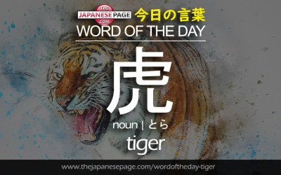 Beginner Word of the Day – 虎 [tiger]
