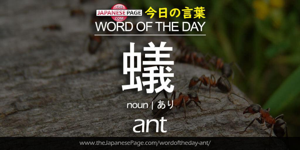 The Japanese Page Word of The Day - Ant