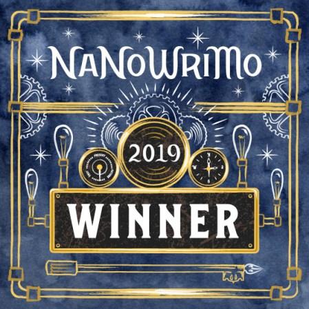 Nanowrimo 2019 winners badge