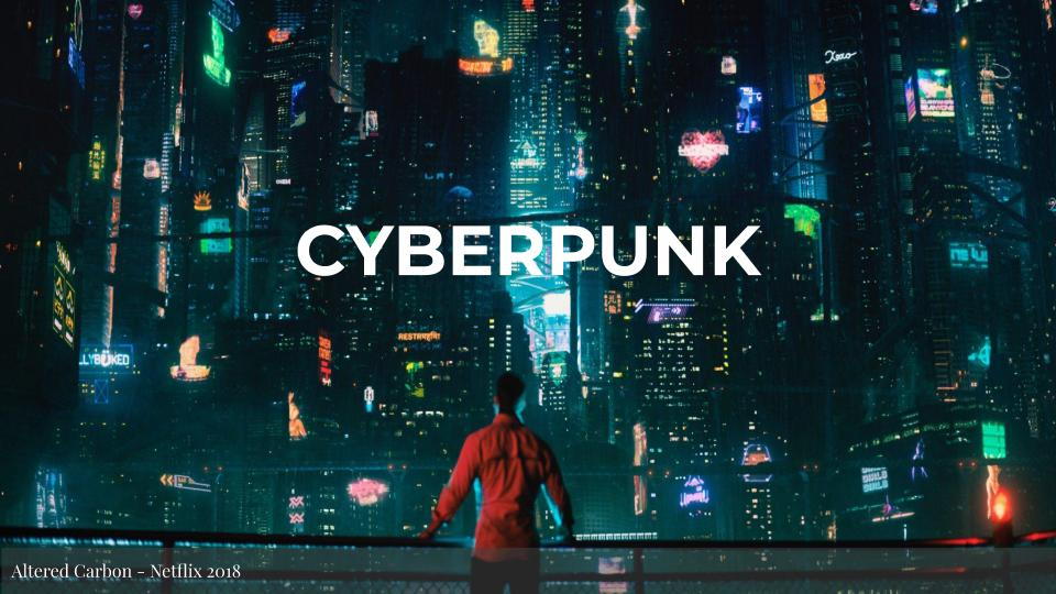 CYBERPUNK Slide Title - Altered Carbon