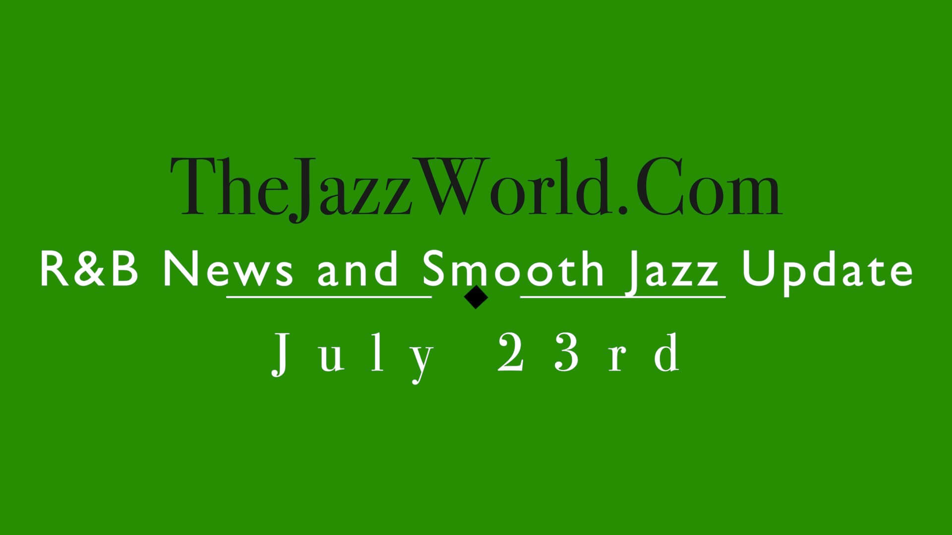 The Jazz World Show 7:23