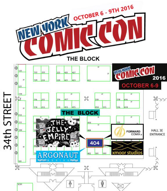 New york comic con  floor plan
