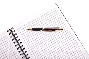 pen and note