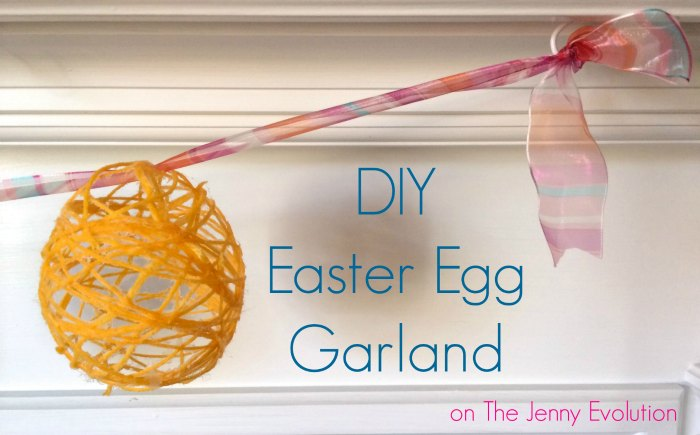 DIY Easter Egg Garland | The Jenny Evolution