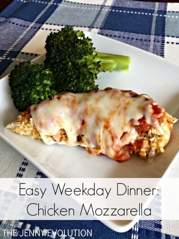 Chicken Mozzarella Easy Weekday Dinner Recipe | The Jenny Evolution