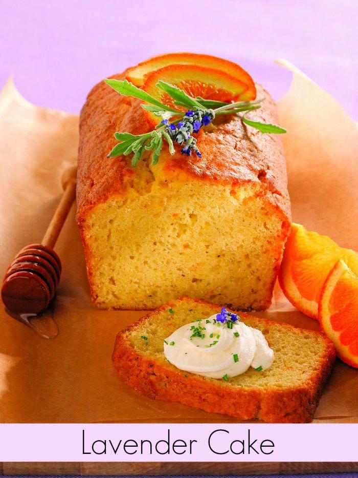 Lavender Cake with Honeyed Ricotta