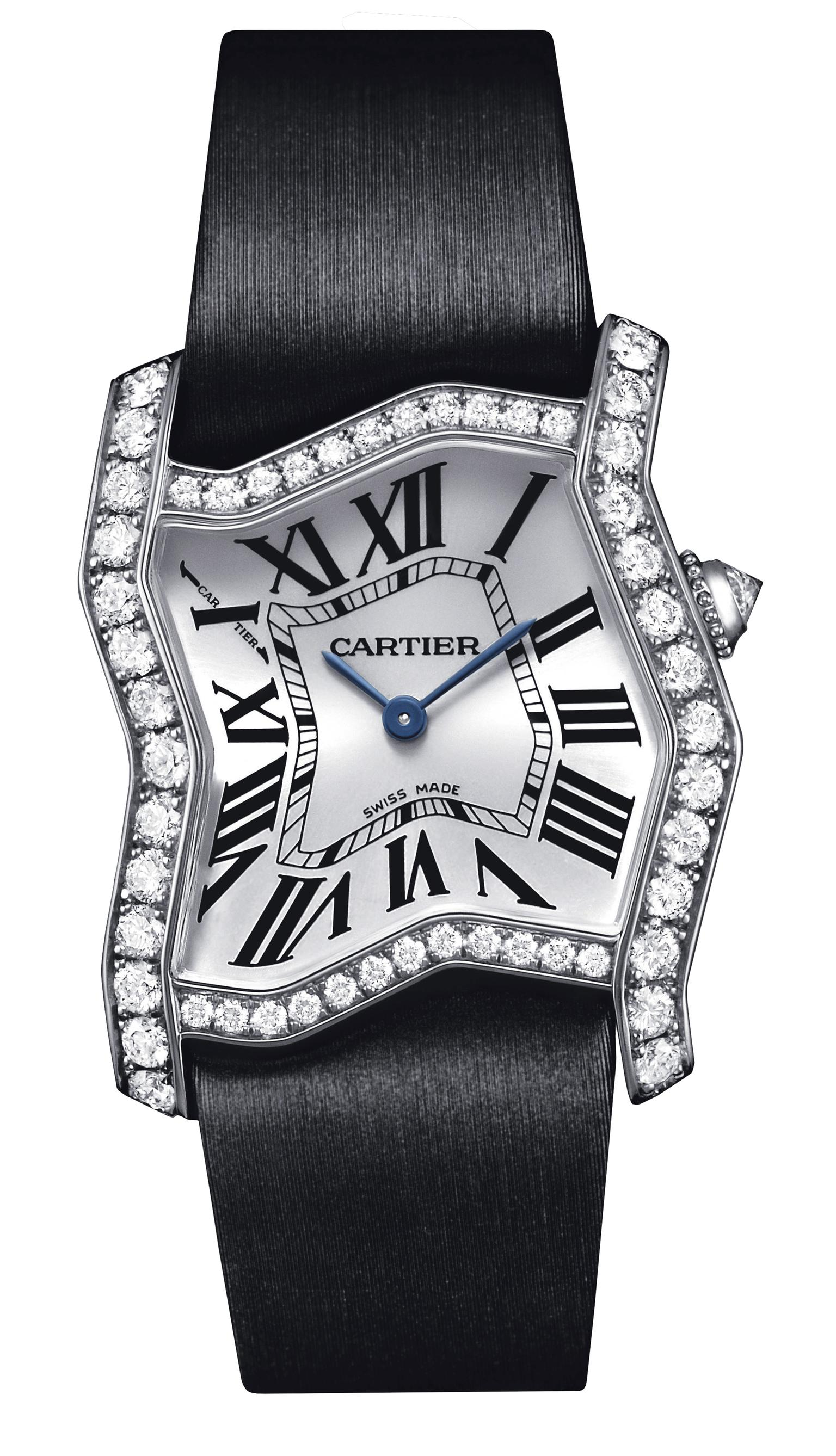 Tank Folle white gold and diamond watch   Cartier   The Jewellery Editor Cartier Tank Folle watch in white gold and diamonds 20130404 Zoom