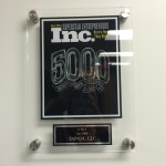 award plaque from Inc magazine