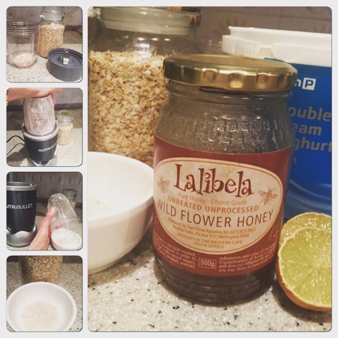 DIY FaceMask Using NutriBullet, Honey, Lemon, Oats and Yoghurt