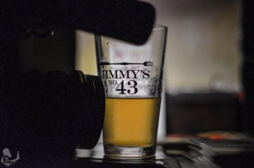 Picture of beer glass in New York City Brew Bar
