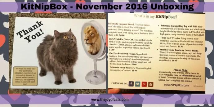 KitNipBox - November 2016 Unboxing