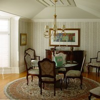 dining room with dentil crown molding