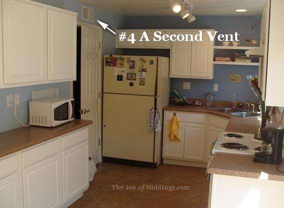 Kitchen crown molding air vent problem