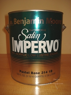 Can of trim paint