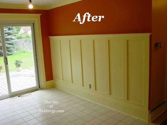 Craftsman style wainscoting moldings