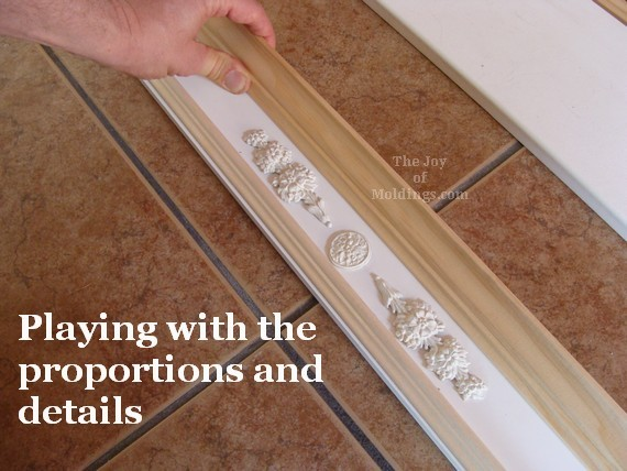 woodworking ornaments on valance box model