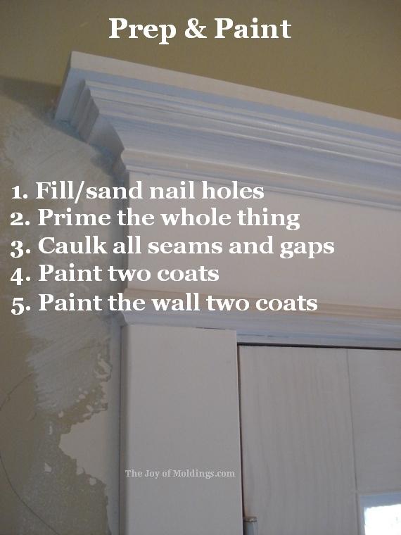 how to paint victorian door trim moldling