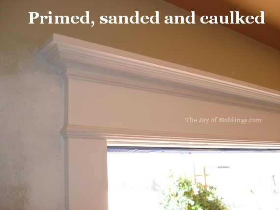 diy door trim molding paint