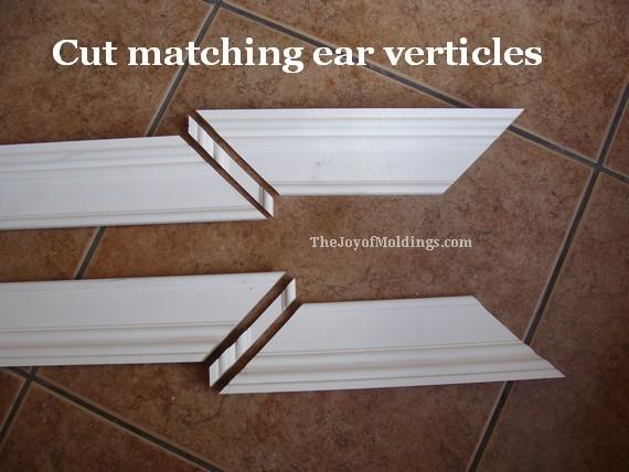 verticle sections of the mdf door trim ears