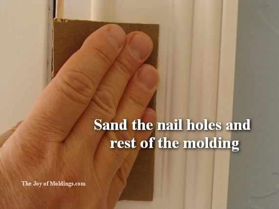 sanding pre primed moldings