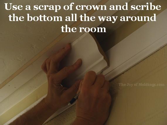 diy large kitchen crown molding buildup