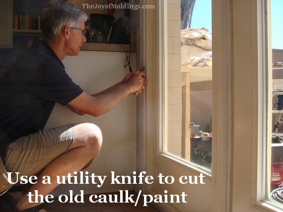 remove old door trim