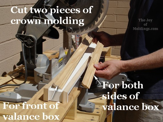 diy valance box from mdf material
