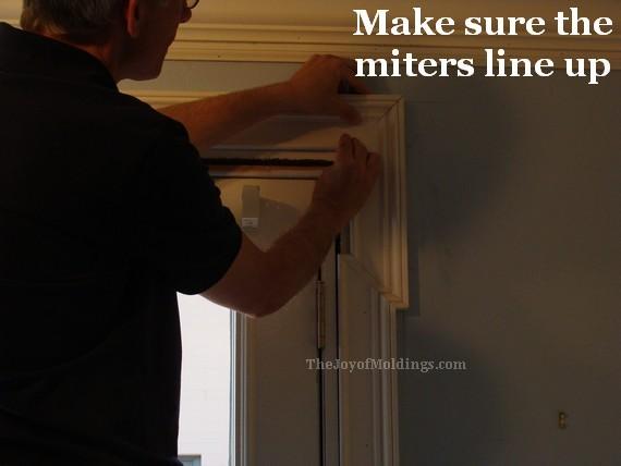 line up miters on mdf door trim moldings