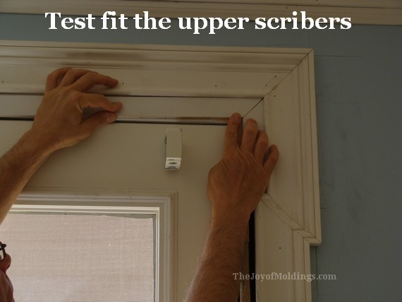 greek revival door trim casing inner scribers