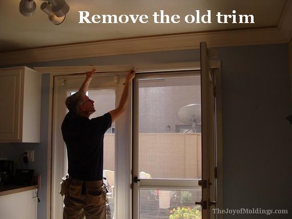 how to remove old kitchen door trim