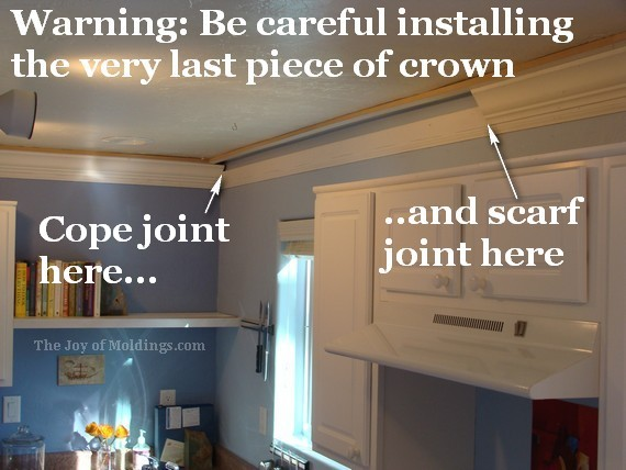 diy kitchen crown molding