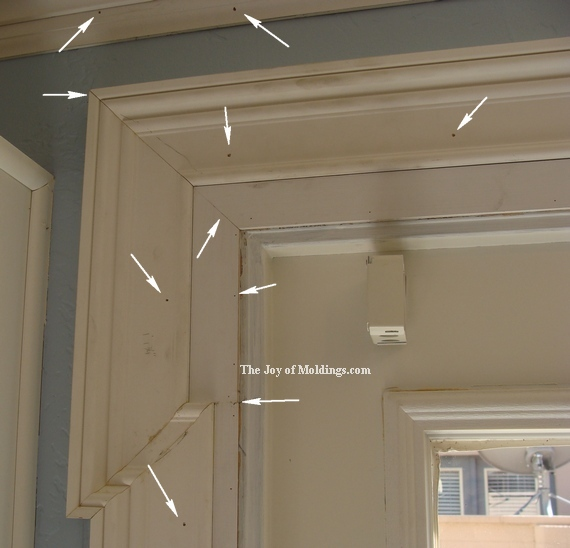 diy door trim fill nail holes