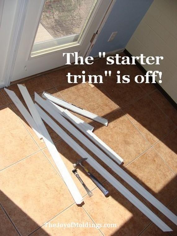 old kitchen door trim
