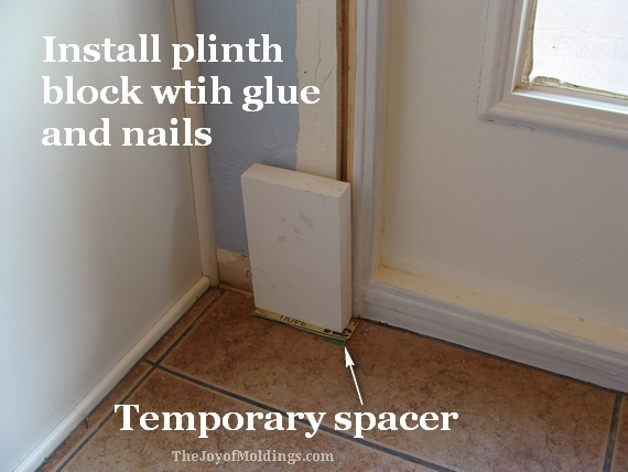 plinth block for diy greek revival door trim installation