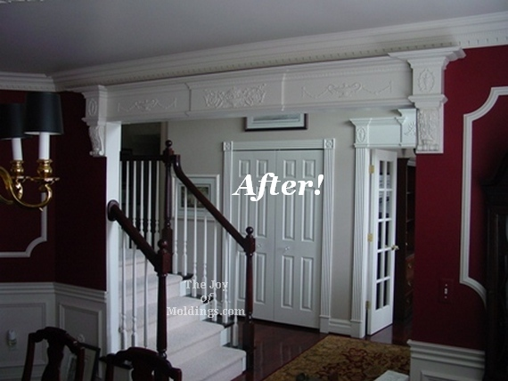 Before Amp After Foyer And Dining Room With Archway The