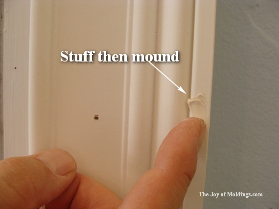 diy white painted moldings