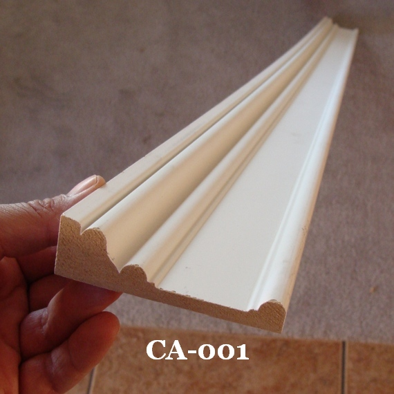 MDF door trim casing from Lowes Home Improvement and Home Depot