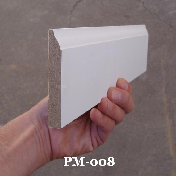 mdf baseboard molding pre-primed ogee